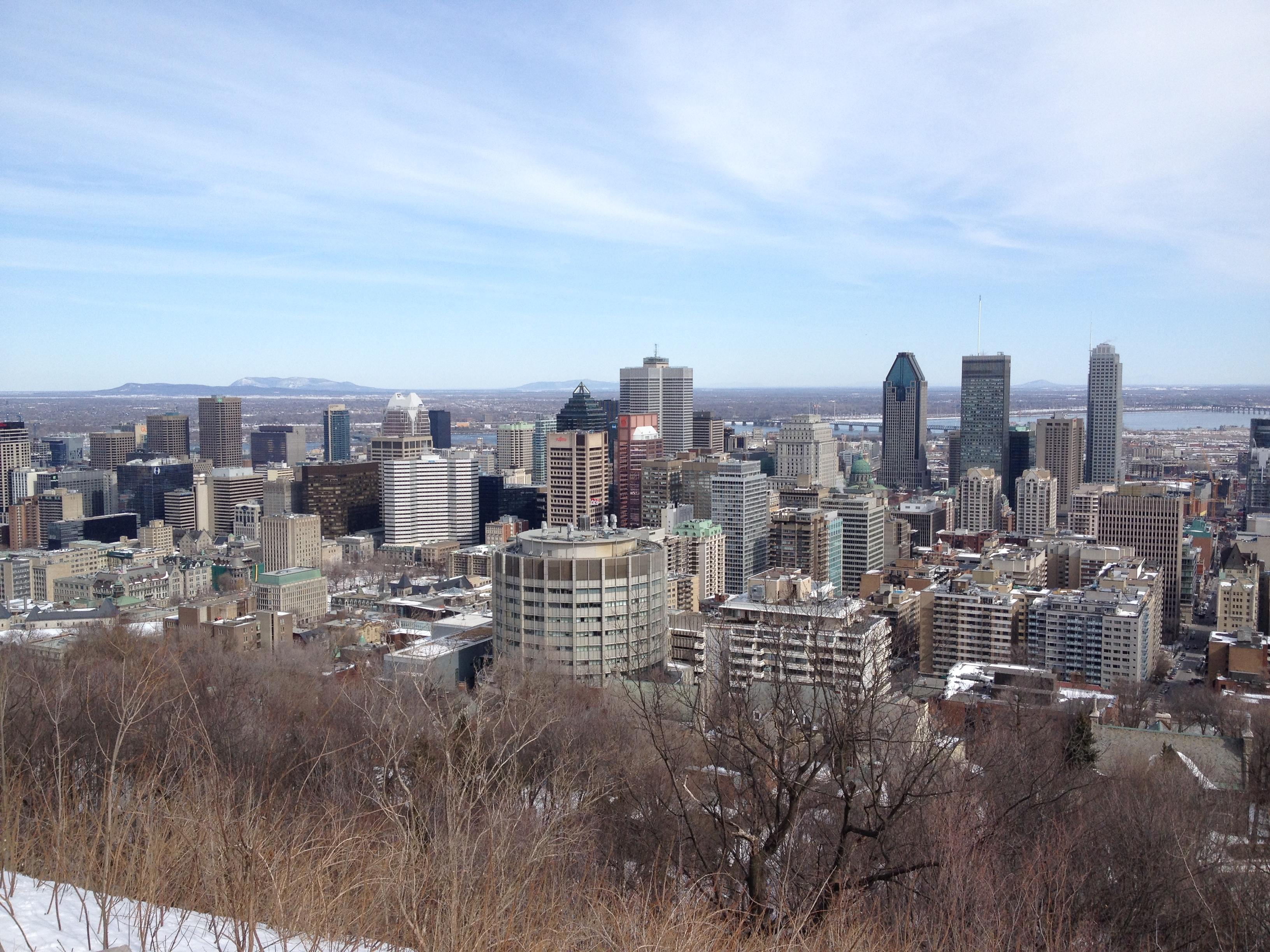 Montreal, Vue du Mont Royal