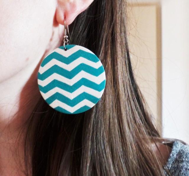 Boucles d'oreille Posca DIY